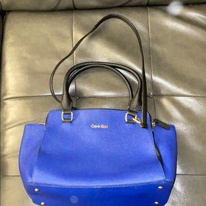 Blue Calvin Klein handbag